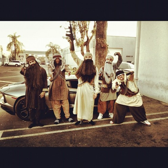 Chris Brown and his friends on Halloween