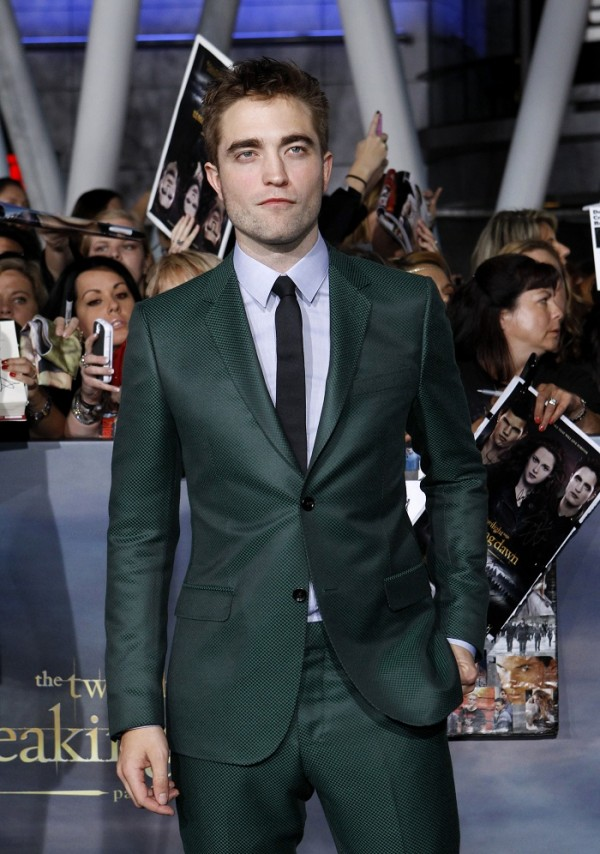 "Cast member Robert Pattinson poses at the premiere of ""The Twilight Saga: Breaking Dawn - Part 2"" in Los Angeles, California, November 12, 2012."