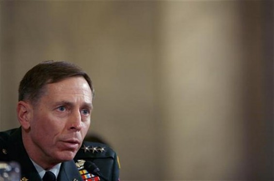 Lieutenant General David Petraeus testifies to the Senate Armed Forces Committee about his nomination to be general and commander of the Multi-National Forces in Iraq at a hearing on Capitol Hill in W