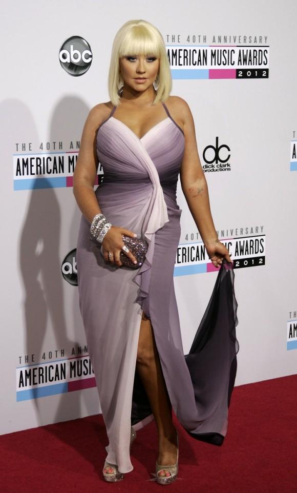 Christina Aguilera at the 40th Anniversary American Music Awards on Nov. 18