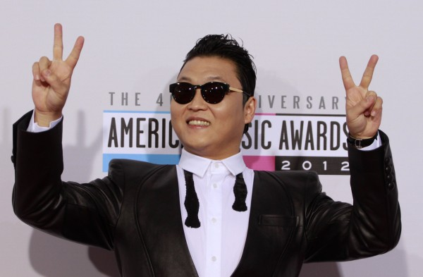 South Korean rapper Psy arrives at the 40th American Music Awards in Los Angeles, California, November 18, 2012.