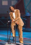 Comedian Katt Williams performs during the taping of the BET Comedy Awards at the Pasadena Civic Auditorium in Pasadena, California, September 25, 2005.