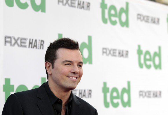 "Writer, director and cast member Seth MacFarlane poses at the premiere of ""Ted"" at the Grauman's Chinese theatre in Hollywood, California June 21, 2012."