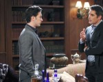 Rafe questions Chad about his involvement with the murder victim on the August 31, 2015 episode of 'Days of Our Lives'