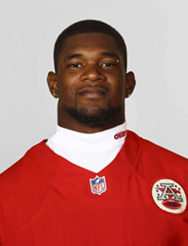 Kansas City Chiefs linebacker Jovan Belcher is pictured in this undated handout photo obtained by Reuters December 1, 2012. Belcher committed suicide December 1, 2012 at the NFL team's practice facili