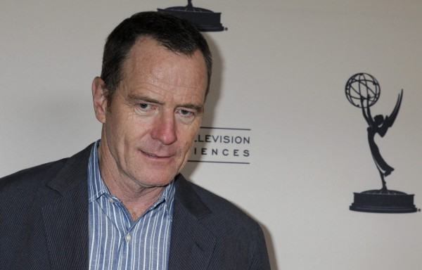 "Actor Bryan Cranston, nominated for outstanding lead actor in a drama series for his role in ""Breaking Bad"" poses at the Academy of Television Arts and Sciences' Performers Peer Group cocktail recepti"