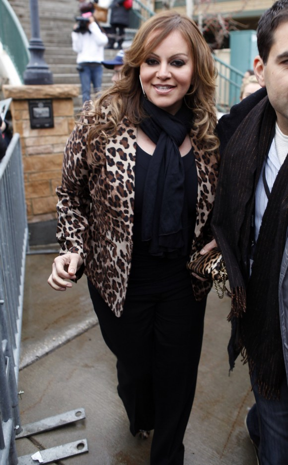 Singer Jenni Rivera stands on Main Street during the Sundance Film Festival in Park City, Utah January 20, 2012.