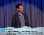 Benedict Cumberbatch on a recent 'Mean Tweets Live' Segment on 'Jimmy Kimmel Live'