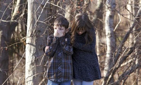 Children in shock following the Newton School shooting