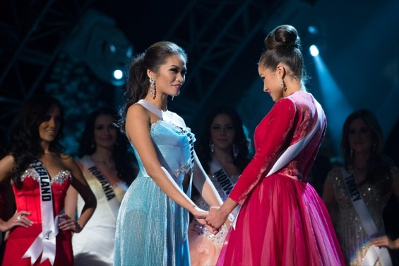 Miss Universe Philippines, Janine Tugonon, is declared first runner-up as, Miss USA, Olivia Culpo, is named the winner of the 2012 Miss Universe Competition.