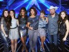 Tate Stevens (second right) Carly Rose Soneclar (far right) and Fifth Harmony (left)