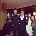 Lamar Odom, Khloe Kardashian-Odom, Brody Jenner, Scott Disick, Kendall Jenner and Kourtney Kardashian