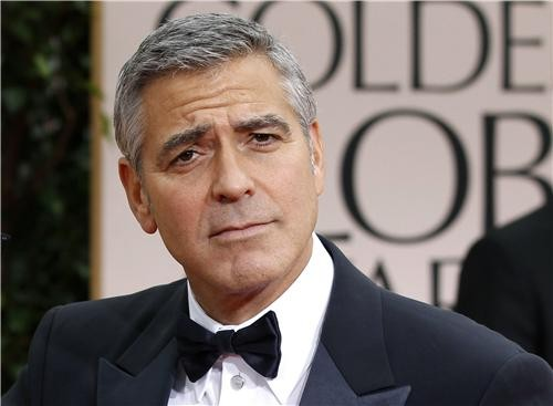 George Clooney at the Golden Globes.
