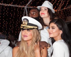 Khloe Kardashian, Kylie Jenner, Kendall Jenner & James Harden