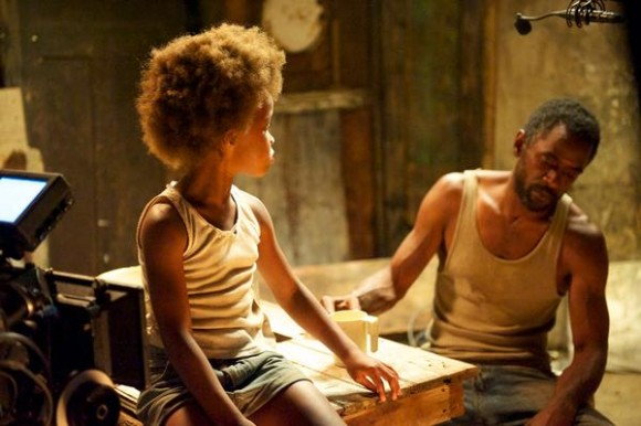 "Hushpuppy (Quvenzhané Wallis) and her father, Wink (Dwight Henry), live in a fictional bayou called the Bathtub in the new film ""Beasts of the Southern Wild."""