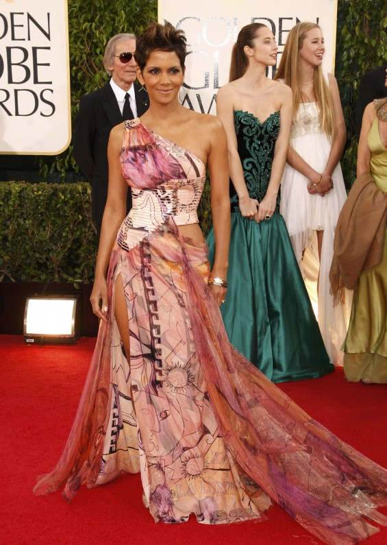 "Actress Halle Berry of the film ""Cloud Atlas"" at the 70th annual Golden Globe Awards in Beverly Hills, California January 13, 2013"