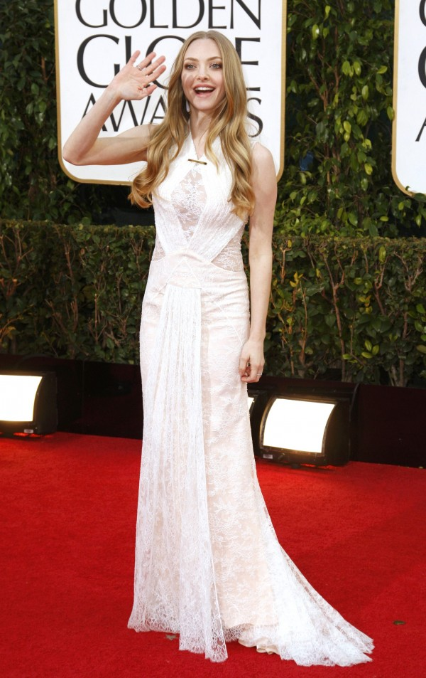 "Amanda Seyfried of the film ""Les Miserables"" at the 70th annual Golden Globe Awards in Beverly Hills, California January 13, 2013."