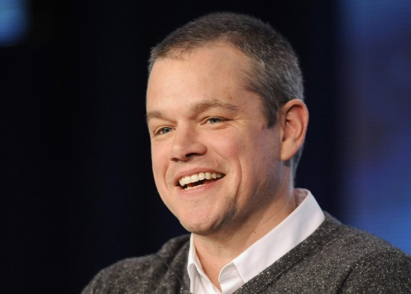 """Actor Matt Damon takes part in a panel discussion of HBO's """"Behind The Candelabra"""" during the 2013 Winter Press Tour for the Television Critics Association in Pasadena, California, January 4, 2013."""