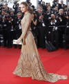 "Model Barbara Palvin arrives on the red carpet for the screening of the film ""Lawless"", in competition at the 65th Cannes Film Festival, May 19, 2012."