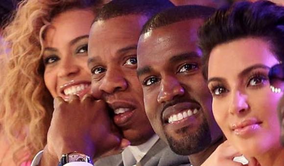 Beyonce, Jay-Z, Kanye West and Kim Kardashian