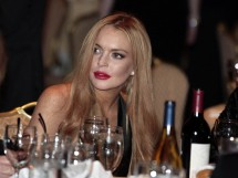 Actress Lindsay Lohan attends the White House Correspondents Association annual dinner in Washington. April 28, 2012.