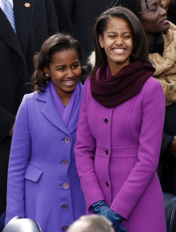 Malia and Sasha Obama daughters of U.S President Barck Obam
