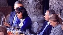 Michelle Obama rolls her eyes