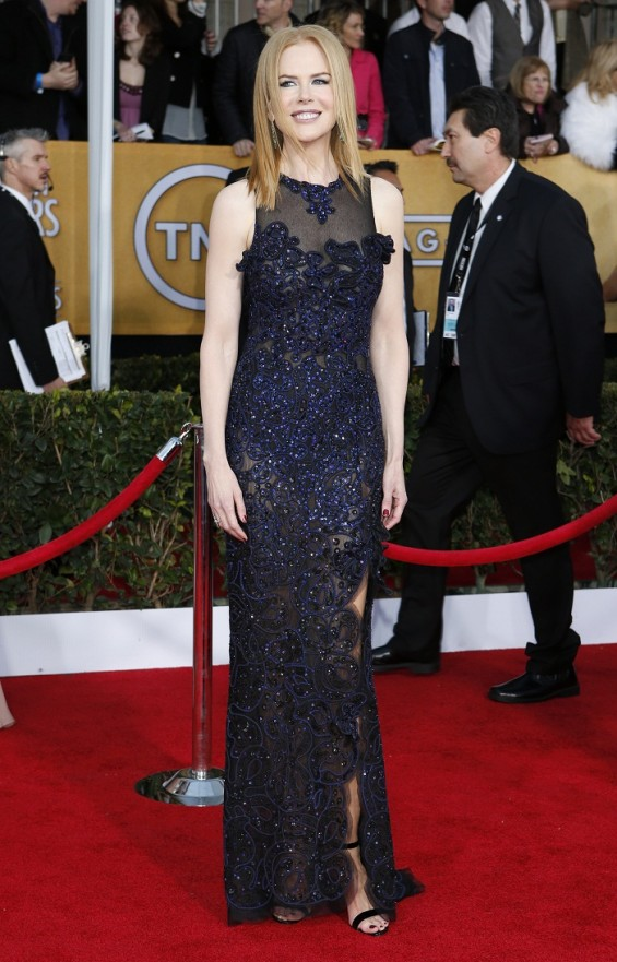Actress Nicole Kidman arrives at the 19th annual Screen Actors Guild Awards in Los Angeles, California January 27, 2013.