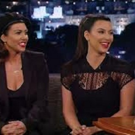 Kourtney Kardashian and Kim Kardashian