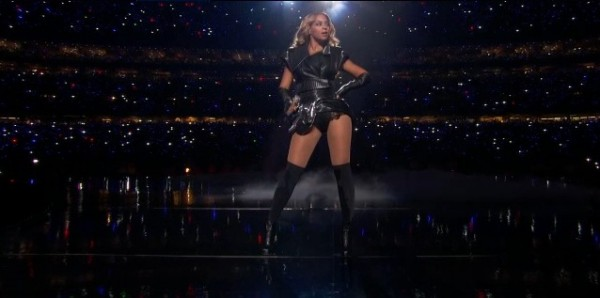 Beyonce performs at the halftime show of the Super Bowl 2013 in New Orleans on February 3, 2013. CBSsports.com Video Screenshot