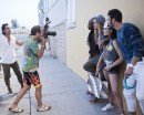 'America's Next Top Model' Cycle 22 Contestants Mamé, Mikey, Lacey & Nyle with Yu Tsai and Mark Hunter a.k.a The Cobrasnake