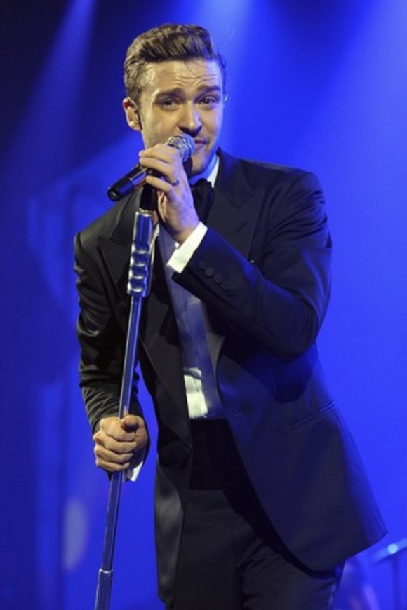 Justin Timberlake Performing at Direct TV's Super Saturday Night