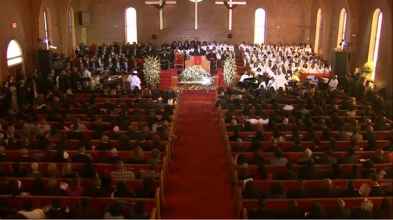 Whitney Houston's Funeral Service February 18, 2012`