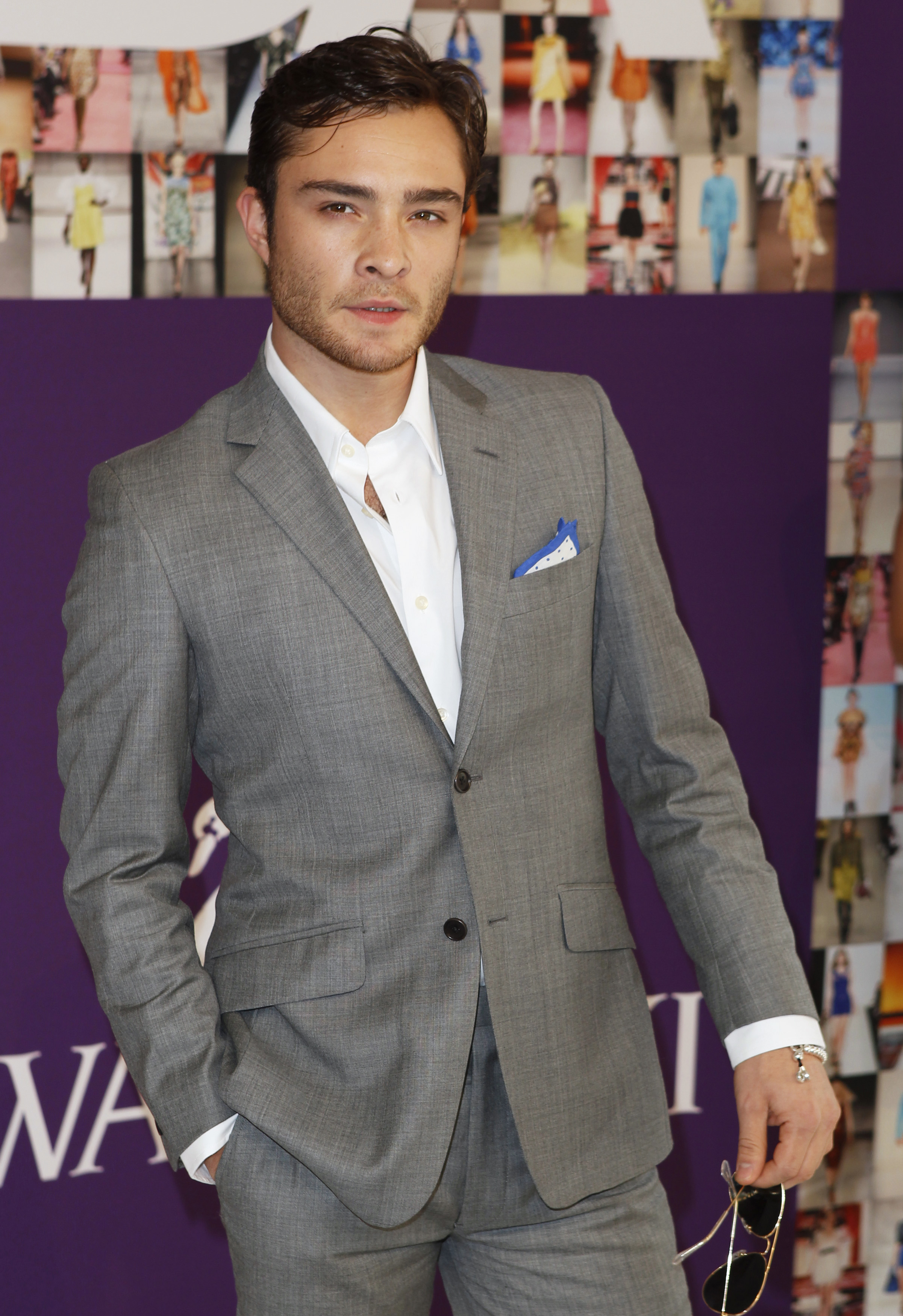 Actor Ed Westwick arrives to attend the Council of Fashion Designers ... Ed Westwick
