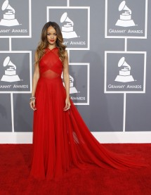 Singer Rihanna arrives at the 55th annual Grammy Awards in Los Angeles, California February 10, 2013.