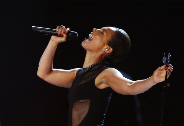 Alicia Keys performs at the 55th annual Grammy Awards in Los Angeles, California, February 10, 2013.