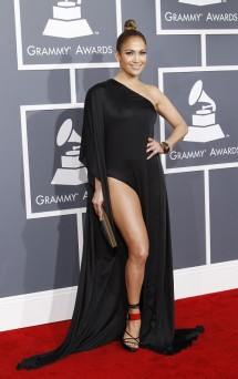 Jennifer Lopez at the 2013 Grammy Awards