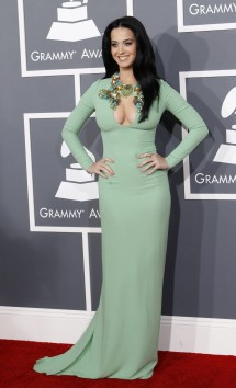 Pop singer Katy Perry arrives at the 55th annual Grammy Awards in Los Angeles, California February 10, 2013.