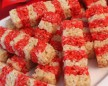 DIY candy cane rice krispies