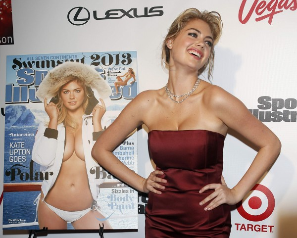 Supermodel Kate Upton poses at the launch party of the Sports Illustrated's 2013 Swimsuit issue, which features her on the cover, in New York February 12, 2013.