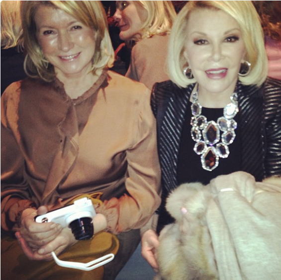 Martha Stewart and Joan Rivers at Dennis Basso