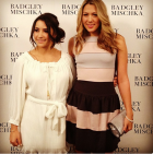 Aly Raisman and Colbie Caillet at Badgley Mischka