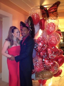 Mariah Carey Nick Cannon Valentine's Day