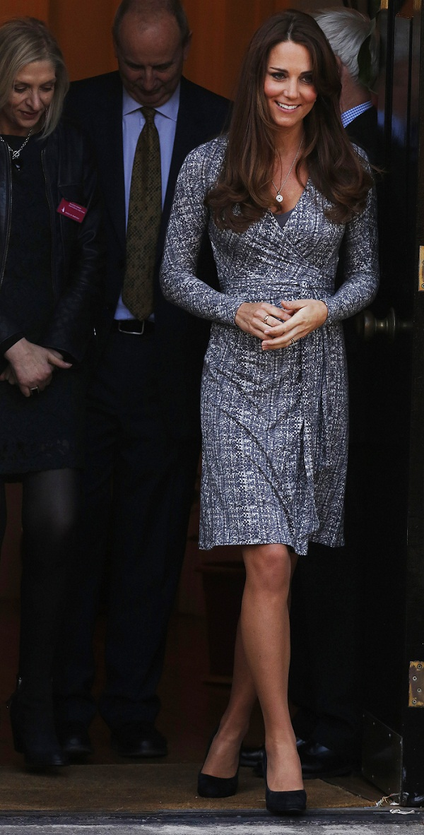 Britain's Catherine, Duchess of Cambridge leaves Hope House addiction treatment centre after an official visit in London February 19, 2013. One of Britain's most celebrated authors has launched a with