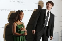 Director Benh Zeitlin and actress Quvenzhane Wallis nominated for Best Actress at The Oscars 2013 for her role on