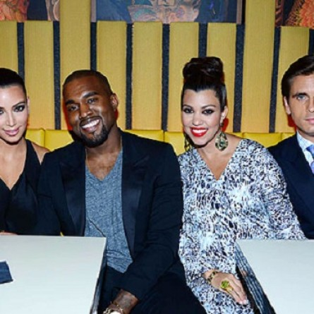 Kim Kardashian, Kanye West, Kourtney Kardashian and Scott Disick