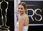 "Best Actress nominee Jennifer Lawrence for her role in ""Silver Linings Playbook"" arrives at the 85th Academy Awards in Hollywood, California February 24, 2013."
