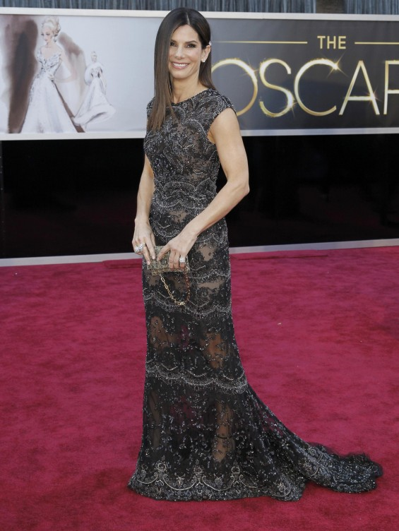 Presenter actress Sandra Bullock arrives at the 85th Academy Awards in Hollywood, California February 24, 2013.