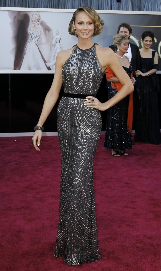 Stacy Keibler arrives at the 85th Academy Awards in Hollywood, California February 24, 2013.