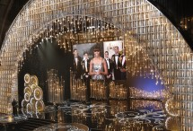 U.S. first lady Michelle Obama announces the winner of the best picture Oscar via video link at the 85th Academy Awards in Hollywood, California, February 24, 2013.